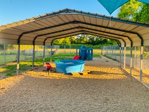 One of our outdoor covered play yards